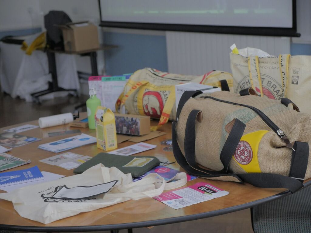 Social Enterprise products on display for the NCS students as a reference for inspiration